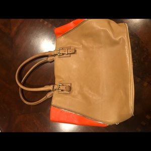 J. Crew leather tote bag